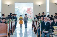 アッシャーとブライズメイドの入場からスタート! #Brideal #wedding #original #ordermade #ideas #fireworks #garden #green #ceremony #ブライディール #ウェディング #オリジナル #オーダーメイド #結婚式 #花火