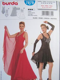 Burda 7879 Sewing Pattern Ballroom Dance Dress by WitsEndDesign