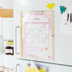 pined by nidnirand 2014 June*【初回お試し】縦型すっきり 家族のスケジュールが見やすい 冷蔵庫バインダーファイルの会