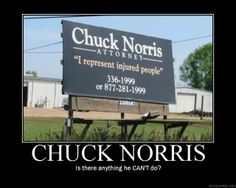 Chuck Norris creates his own client base.
