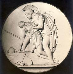 Aquiles y Pentheselia,obra de Bertel Thorvaldsen,1837.