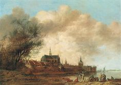 Anthonie Jansz. van der Croos: A view from Haarlem from the SW