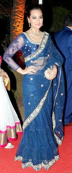 Sonakshi Sinha in a half saree