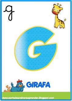 Cartelas alfabeto com tema da Galinha pintadinha