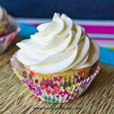 This Simply Vanilla Buttercream is our family's classic buttercream recipe. This melt-in-your-mouth buttercream is the perfect cupcakes topper!
