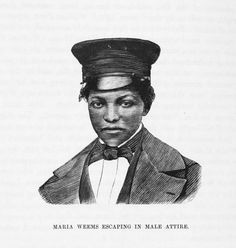 Maria Weems escaping in male attire. /  Source: The underground railroad: A record of facts, authentic narratives, letters, & c., narrating the hardships, hair-breadth escapes, and death struggles of the slaves in their efforts for freedom, as related by themselves and others or witnessed by the author : together with sketches of some of the largest stockholders and most liberal aiders and ad
