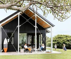 Shed Plans - A yearning for a beach retreat on the NSW South Coast turned into a cool shed home – and the owners couldn't be happier. Check it out! - Now You Can Build ANY Shed In A Weekend Even If You've Zero Woodworking Experience! Shed Plans, House Plans, Shed Design, House Design, Cool Sheds, Shed Homes, Beach Shack, Building A Shed, Bungalows