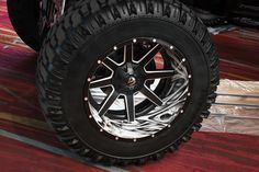 FUEL® - MAVERICK 2PC Black with Milled Accents on Chevy Silverado