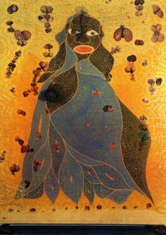 Chris Ofili, The Holy Virgin Mary, 1996. Young British Artists, Contemporary Art