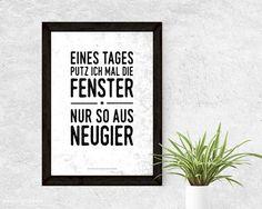 Typo Kunstdruck für die Wohnung, Putzen, Haushaltstipps, Wohndeko / poster for cleaning, funny quote made by mfM Kreativbutze via DaWanda.com
