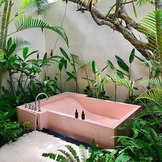 Home Interior Living Room .Home Interior Living Room Pink Bathtub, Pink Tub, Home Design, Interior Design, Design Ideas, Spa Design, Salon Design, Design Art, Outdoor Bathrooms
