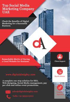 Top Social Media Marketing Company UAE -  Digital Almighty Social Media Marketing Companies, Companies In Dubai, Top Social Media, Uae, Digital Marketing, Web Design, Business, Design Web, Store
