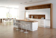 White Gloss Kitchen found in ekbb magazine.