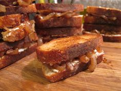 goat cheese, caramelized onion and truffle oil grilled cheese...foodgasm....