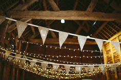 Hessian Heart Bunting Fairy Lights Natural Rustic Hand Crafted Autumn Wedding http://www.epiclovephotography.com/