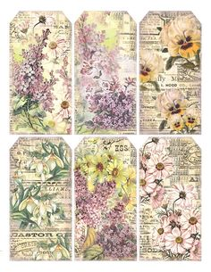 free to print  Gorgeous floral tags  lilac-n-lavender.blogspot.com