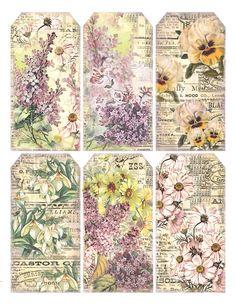 free to print  Gorgeous floral tags  lilac-n-lavender.blogspot.com