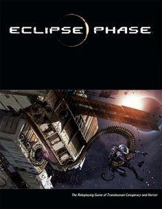 """Eclipse Phase is a pen & paper roleplaying game of post-apocalyptic transhuman conspiracy and horror.""  ""The Eclipse Phase roleplaying game is released under a Creative Commons license."" // Haven't played this game yet but we'll definitely give it a try in the not too distant future."