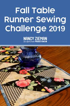 The Fall Table Runner Sewing Challenge 2019 hosted by Nancy Zieman Productions starts now! We are proud sponsors of this year's Fall Table Runner Sewing Challenge. Art Education Projects, Education Journals, Sewing With Nancy, Architecture Art Design, Nancy Zieman, Flower Quilts, Log Cabin Quilts, Landscape Quilts, Collaborative Art