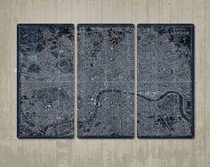 Vintage London Triptych