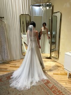 Got to try on this dream dress! Wishing to walk down the aisle wearing the Penelope Gown, Tisha Blusher Veil and Pearly Primrose Sash on my wedding day #BHLDNwishes
