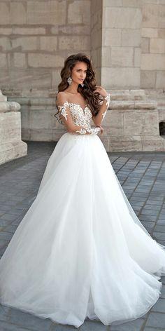 5165adba25 1001 + ideas encantadoras de vestidos de novia con encaje