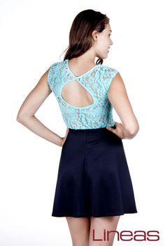 Vestido, Modelo 18674. Precio $230 MXN #Lineas #outfit #moda #tendencias #2014 #ropa #prendas #estilo #primavera #vestido