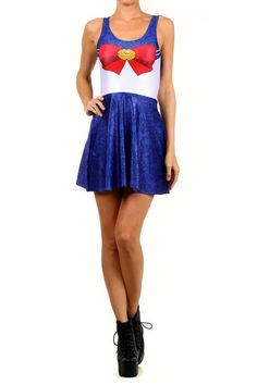 """"""" Now you can be a Sailor Scout too! Fight crime and battle evil in your sexy sailor scout dress. Find your other pretty guardians and battle the night on the town! Talking cat not included. Skater Skirt, Dress Skirt, Skater Dresses, Nerd Outfits, Moon Princess, Sailor Scouts, Dress Me Up, Superstar, Halloween Costumes"""