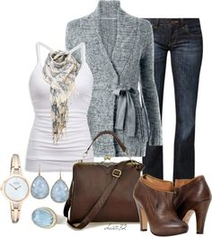 """""""Bow Tie Cardigan"""" by christa72 on Polyvore"""