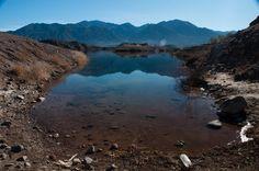 Lago do Dique Potrerillos, Mendoza Lago formado por água de desgelo.