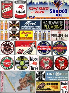 Old signs for your layout Vintage Tins, Vintage Labels, Advertising Signs, Vintage Advertisements, Retro Ads, Model Training, Ho Trains, Model Train Layouts, Old Signs