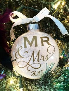 Hey, I found this really awesome Etsy listing at https://www.etsy.com/listing/254707042/our-first-christmas-ornament-wedding