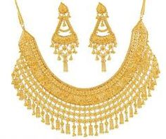Latest Stylish Gold Jewelry 2015 Sets for Bridal India Jewelry, Jewelry Sets, Gold Jewelry, Jewellery, Gold Necklaces, Types Of Gold, Gold Set, Jewelry Design, Drop Earrings