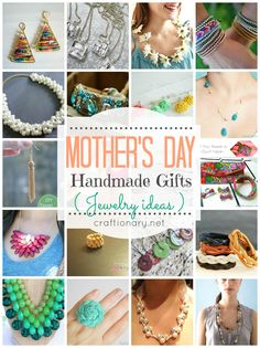 Mothers day gifts to make your mom feel specials. Ideas to make handmade jewelry. DIY earrings, necklace, bracelets, bangles, rings and more. DIY tutorials