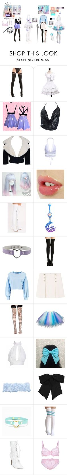 """""""Panty and Stocking with garterbelts oc: Bra and Garter"""" by ghostastickitty ❤ liked on Polyvore featuring Paco Rabanne, Jean Patou, LULUS, Hot Topic, Boohoo, MANGO, Leg Avenue, Fogal, Yves Saint Laurent and Steve Madden"""
