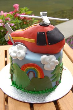 helicopter cake. this is awesome.