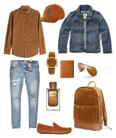 """Senza titolo #157"" by bagordocinzia on Polyvore featuring Dsquared2, UGG, Ray-Ban, '47 Brand, River Island, Hollister Co., March LA.B, Frye, Timberland e Dolce&Gabbana"