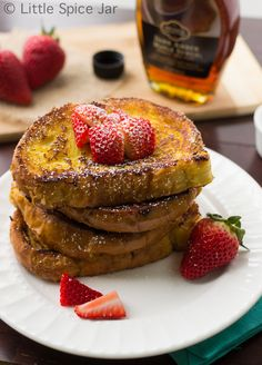 Easy to make Crème Brûlée French Toast. Make sure to pin this one!! You won't make the regular stuff ever again! - Little Spice Jar