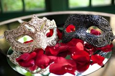 Would love to wear masquerade masks into the reception-masquerade wedding themes
