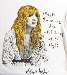 Stevie Nicks T-shirt of Fleetwood Macpainted 3d