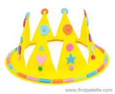Paper Plate Crown Craft | Kids' Crafts | FirstPalette.com