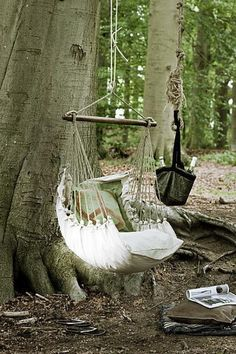 swings...now that is MY IDEA of camping:)