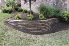 Crazy Front Yard Retaining Wall Landscaping 50 + Crazy Front Yard Stützmauer Landschaftsbau www. Retaining Wall Construction, Diy Retaining Wall, Landscaping Retaining Walls, Hillside Landscaping, Outdoor Landscaping, Front Yard Landscaping, Landscaping Ideas, Mulch Yard, Retaining Wall Design