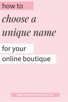 Want to start an online boutique business but stuck trying to find the perfect boutique name? Click through to read about how to choose a unique boutique name that will be timeless. Fashion Names Ideas, Fashion Store Names, Fashion Tips, Boutique Names, A Boutique, Boutique Clothing, Boutique Ideas, Boutique Interior, Boutique Stores