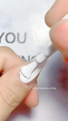 Nail Art Designs Videos, Nail Designs, How To Ombre Nails, How To Do Nails, Gel Nails, Nail Polish, Nail Quotes, White Manicure, White Nail Art