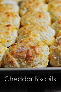 Cheddar biscuits make a great addition to any meal! Full of grated cheddar cheese and a crisp bottom, these cheddar biscuits are a family favorite!