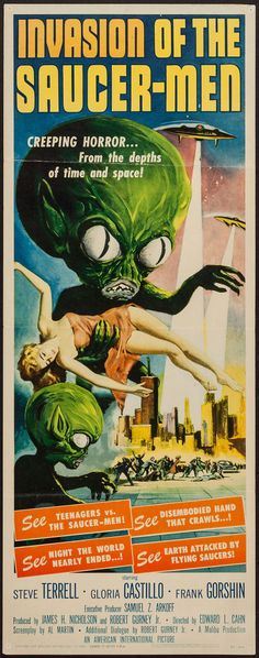 "Invasion of the Saucer-Men (American International, 1957). Insert(14"" X 36""). #heritageauction"