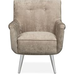 Moda Accent Chair Bronze ($230) ❤ liked on Polyvore featuring home, furniture, chairs, accent chairs, tufted chair, tufted accent chair, faux chair, bronze furniture and button tufted chair