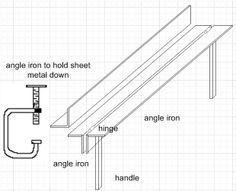 Metal Break Blueprint Metal Bending Tools Metal Tool Box Sheet Metal Tools