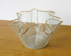 Scarce Retro Chance Brothers Glass Swirl by CabinetEclectica